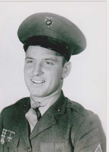 Photo of Dale's father in his Marine uniform.