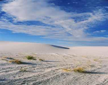 Photo of desert at White Sands, New Mexico.