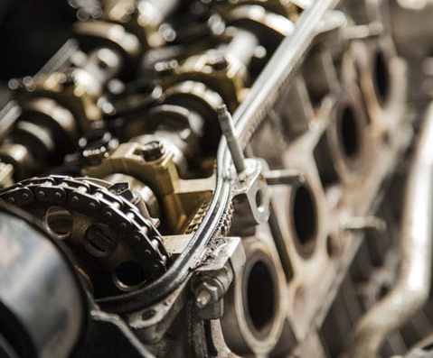 Photo of a car engine.